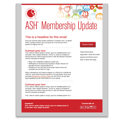 American Society of Hematology Email for New Members