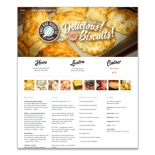 Website for Early Bird Biscuit