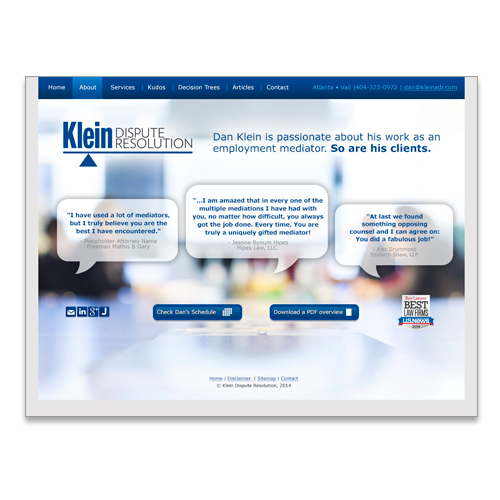 Website for Dan Klein